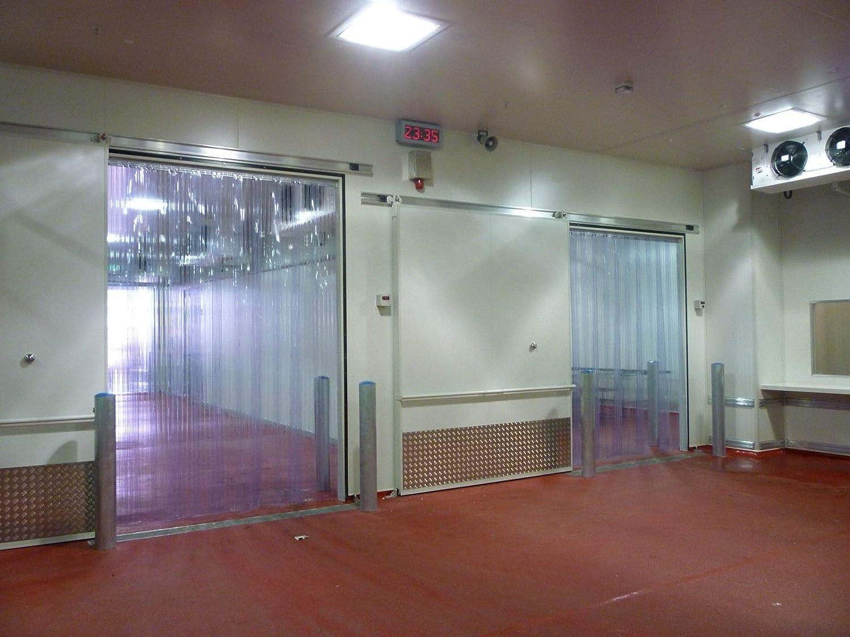 "Garden at Home Industrial Warehouse PVC Plastic Clear Freezer Walk Door Vinyl Curtain Strip 96"" X 84"""