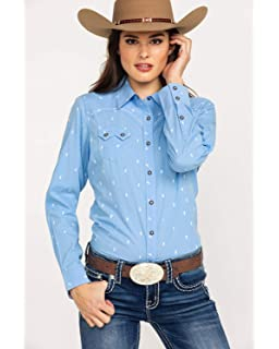 54d1d6cb ARIAT Ombre Fitted Snap Fitted Shirt at Amazon Women's Clothing store: