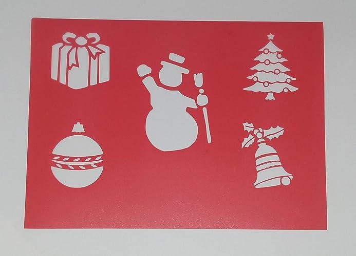 Pochoir Pour Gâteaucake Stencil Noël Bonhomme De Neige Amazonfr