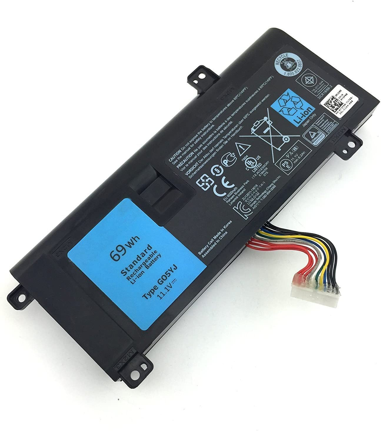 New G05YJ M14X 0G05YJ 6-Cell Laptop Battery Compatible with Dell Alienware A14 R4 14D-1528 ALW14D-5728 ALW14D-5528 ALW14D Y3PN0 8X70T [69Wh 11.1V]-12 Months Warranty