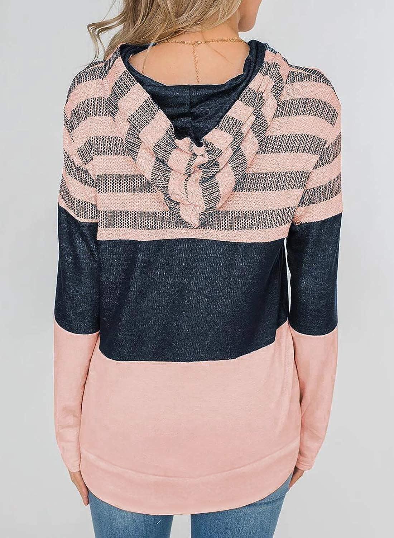 SWEET POISON Womens Zip Up Hoodie Color Block Sweatshirt Jackets Cardigans Tops