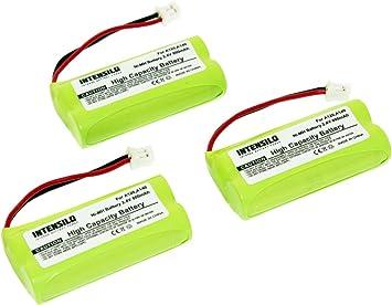 INTENSILO 3X NiMH batería 800mAh (2.4V) para teléfono Fijo inalámbrico Siemens Gigaset AL145 Duo, AL14H, AS14 por V30145-K1310-X359.: Amazon.es: Electrónica