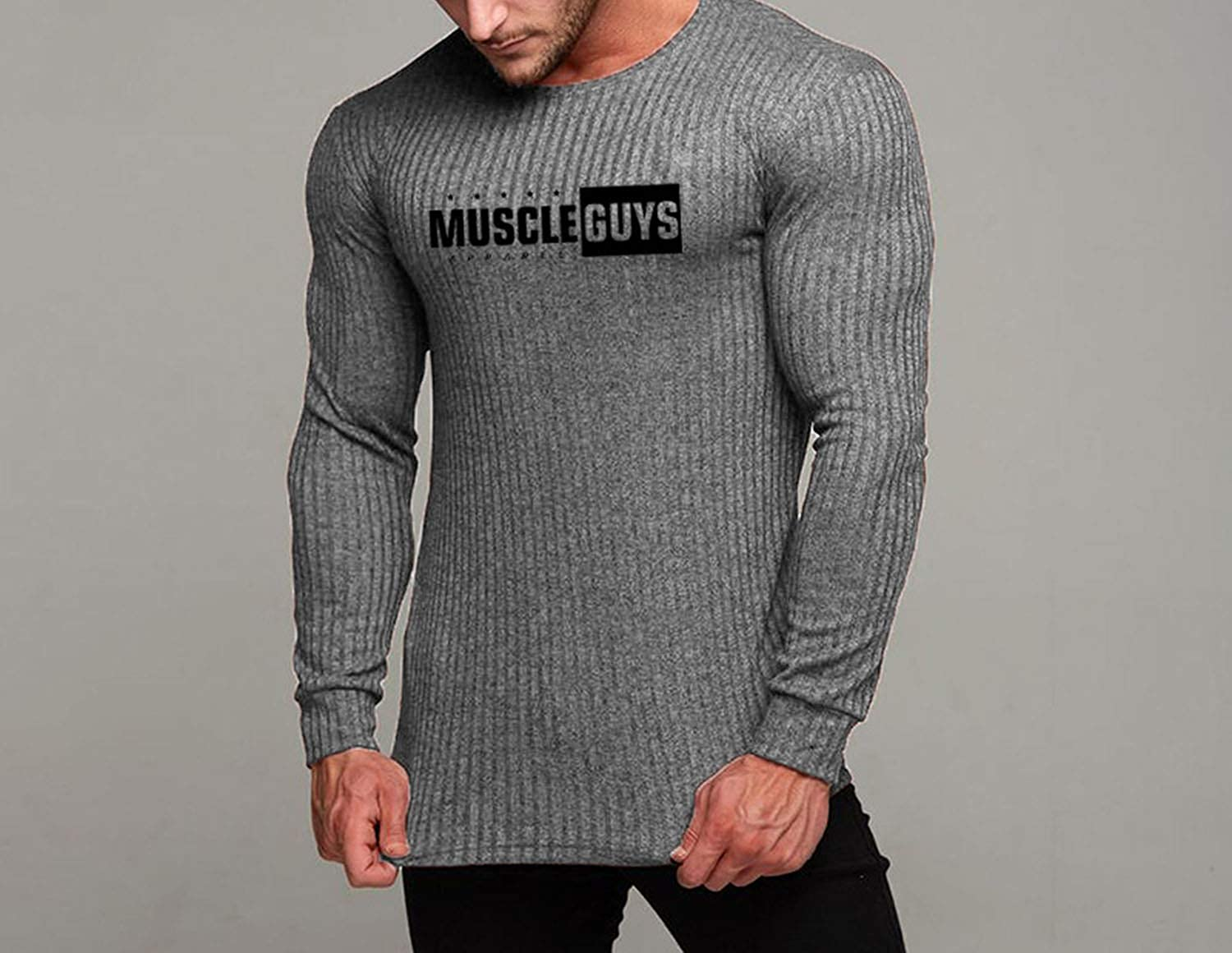 Ill NEVER BE HER Autumn Sweater Mens Fashion Casual Male Sweater O-Neck Slim Fit Knitting Men Sweaters Pullovers