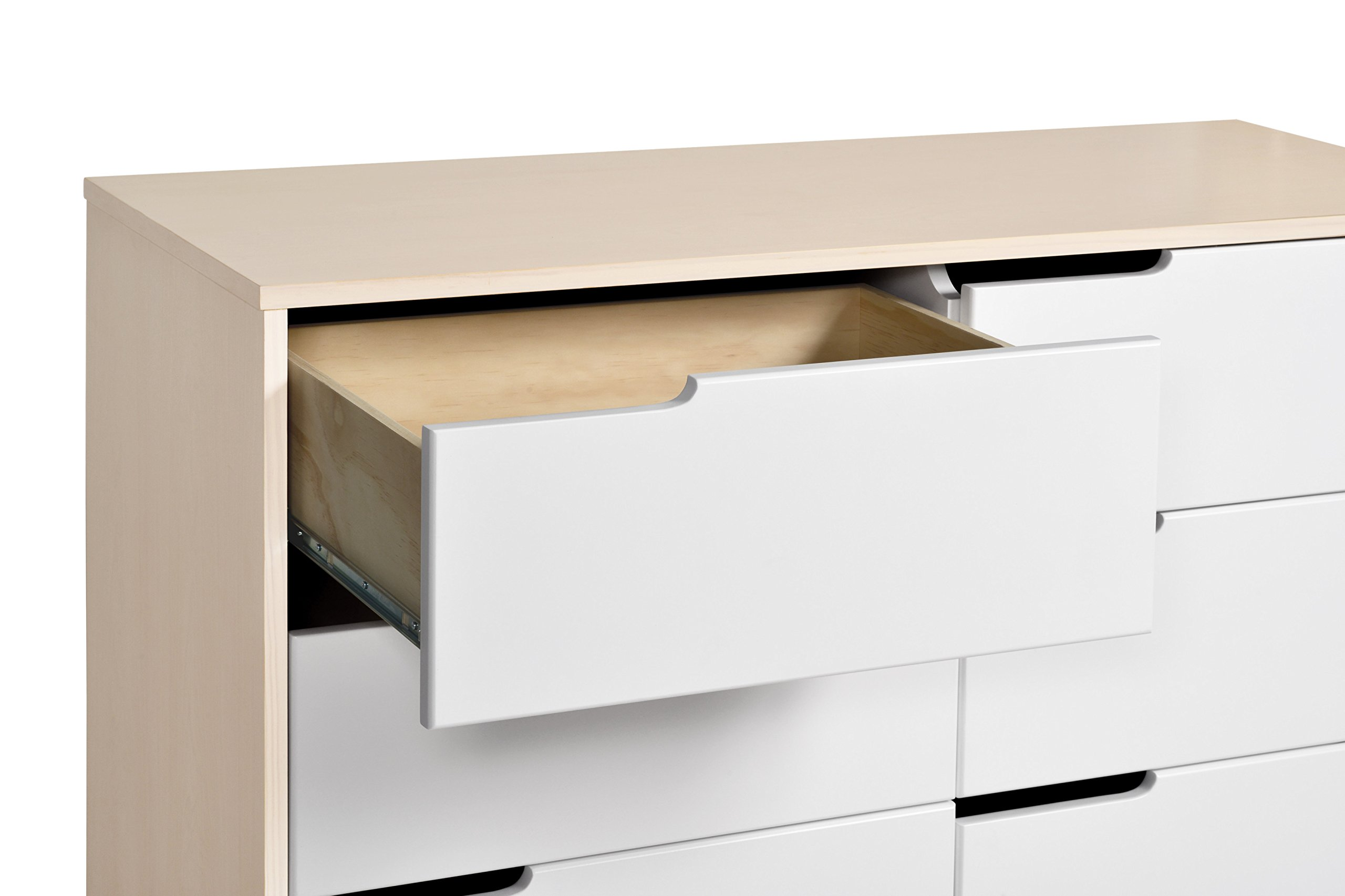Babyletto Hudson 6-Drawer Assembled Double Dresser, Washed Natural / White by babyletto (Image #3)