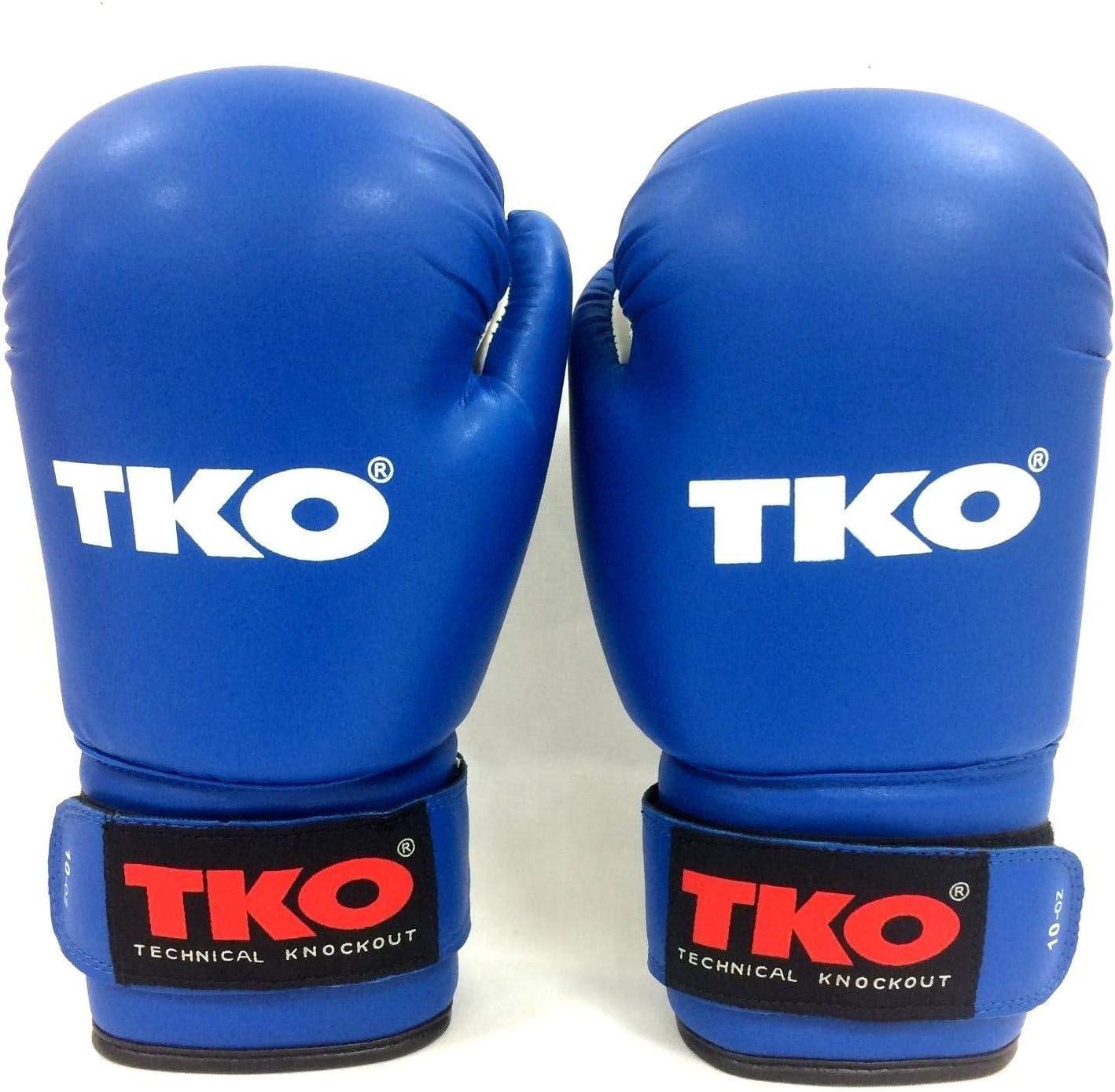 TKO ボクシンググローブ レザーブルー 16オンス