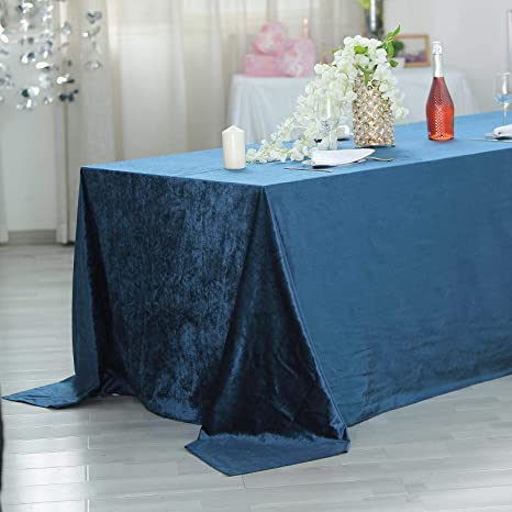 """Navy BLUE Polyester 90x156/"""" Rectangle TABLECLOTHS Wedding Party Home Linens SALE"""