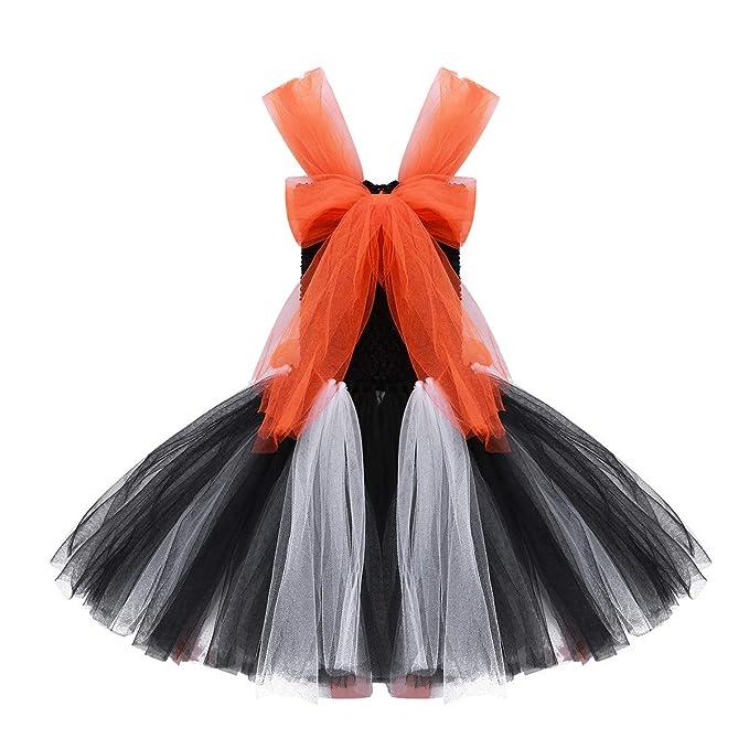 iEFiEL Disfraz de Halloween Vestido Tutu de Calabaza Disfraces Infantil  Naranja Fiesta Cosplay Costume para Niñas 2-10 Años  Amazon.es  Ropa y  accesorios 3adf0820e19a