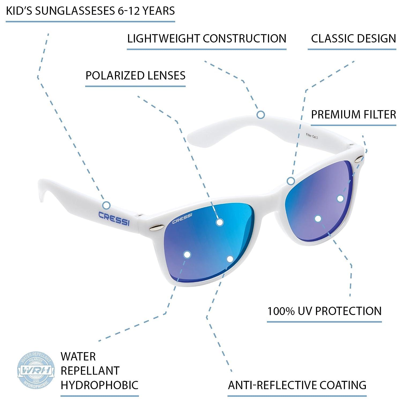 Cressi Maka - Gafas de Sol para niños Unisex, 100% de protección UV
