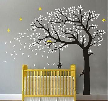Merveilleux Black Tree Flying Birds Wall Sticker Vinyl Wall Decal Art Baby Nursery  Sticker Living Room Bedroom