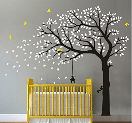 Amazon Com Huge Family Tree Wall Decals Green Tree Removable Wall