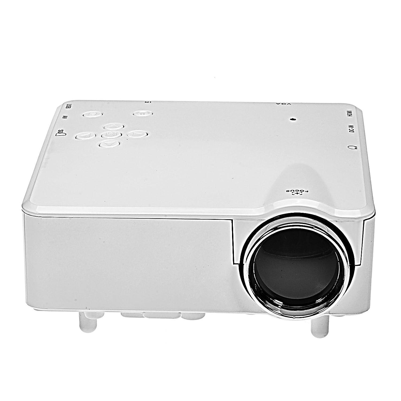 H80 Multimedia LED Proyector HD 1080P AV TV VGA USB HDMI Blanco ...