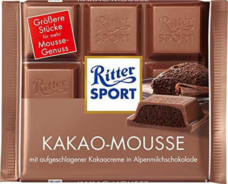 Ritter Sport mousse de chocolate