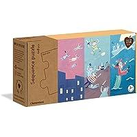 Clementoni - 16251TR - Play For Future - Sequence Puzzle - Peri Masalları, eğitici oyuncak