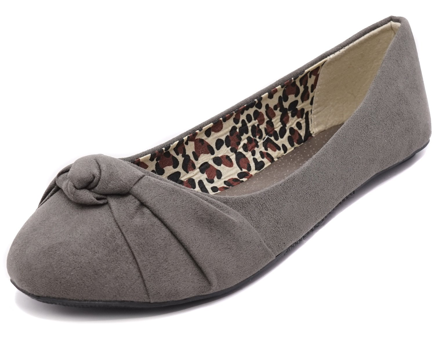bc9eb1d9a437 Galleon - Charles Albert Women s Knotted Front Canvas Round Toe Ballet Flats  (6