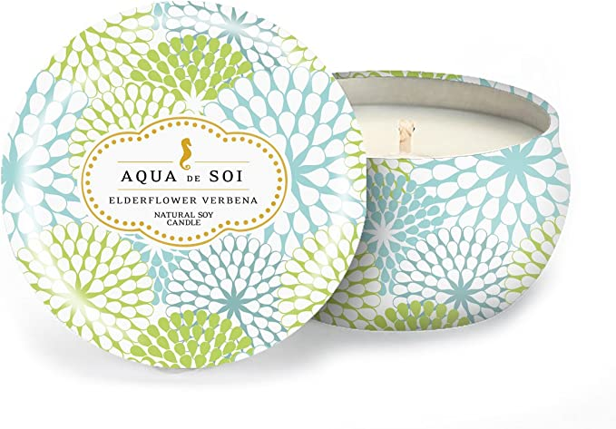 Soi Candles Aqua de Soi Linen /& Lace Decorative Tin 9oz