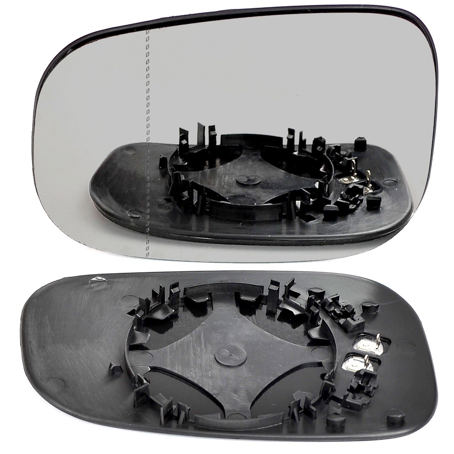 Left hand, passenger side wing door clip mirror glass Heated # Vos40/P00-2008492/590 Less4Spares