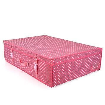 Hangerworld Caja de Ordenación 50x80x20cm Transpirable con Tapa Rosa con Lunares Protege tu Ropa: Amazon.es: Hogar