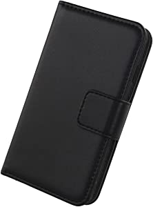 Gukas Genuine Leather Case for Apple iPod Touch 7 / Touch 6 Wallet Premium Flip Protection Cover Skin Pouch with Card Slot (Black)