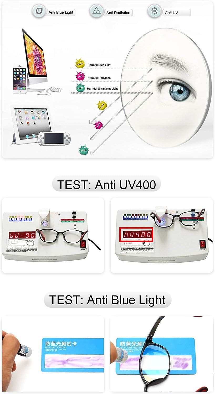 Brillenetui Kinder Brille Ohne St/ärke Blaulichtfilter UV Blockieren TR90 Brillengestell f/ür Jungen M/ädchen
