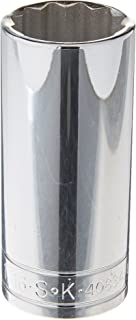product image for SK Professional Tools 40834 1/2 in. Drive 12-Point Metric Standard Chrome Socket - 1-1/16 in, Cold Forged Steel Socket with SuperKrome Finish, Made in USA