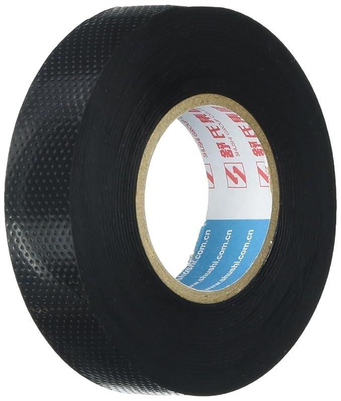 Cinta negra, goma, autoadhesivo, alto voltaje, aislante eléctrico, cinta de 5 m.