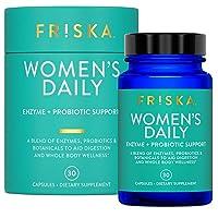 Friska Women's Daily, Natural Digestive Enzyme & Probiotic, Promotes Better Digestion...
