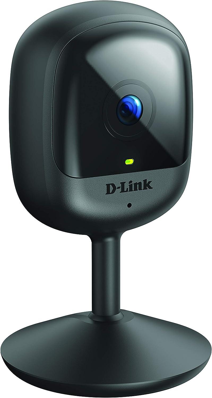 D-Link DCS-6100LH, Cámara IP WiFi para videovigilancia/Seguridad, Compacta, Full HD, visión Nocturna, Control Desde App, detecta Sonido/Movimiento y ...