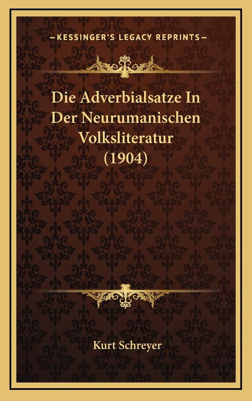 Buy Adverbialsatze In Der Neurumanischen Volksliteratur 20 ...