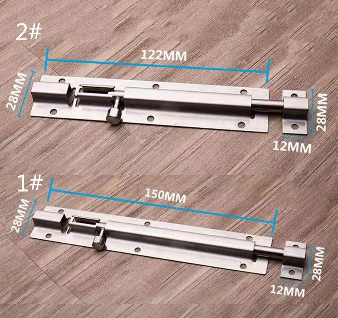 Pestillo de seguridad para puertas de cajones de madera y ventanas de acero inoxidable grueso con clavos 1 unidad//paquete