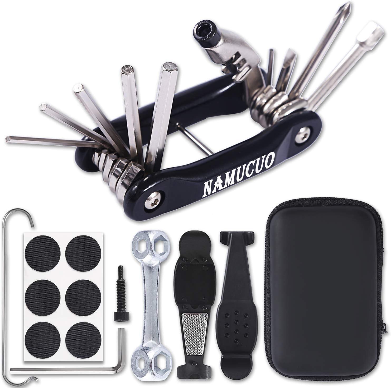 6 Month Warranty YBEKI Bike Repair Tool Kit Bicycle Tool Set with Multi-Function Bike Tool Chain Tool Bike Tire Tool and Bone Wrench Portable Tool Bag