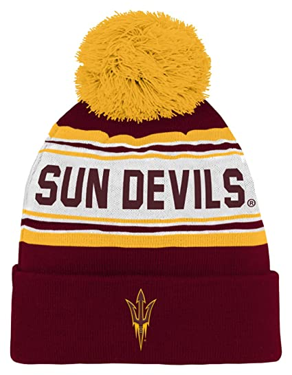 1bc304a5b0bb52 NCAA Arizona State Sun Devils Children Boys Cuffed Knit with Pom Hat, 1-Size