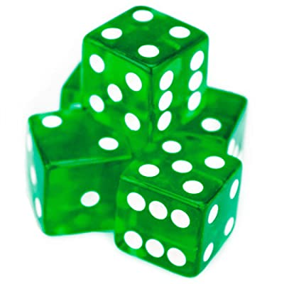 Brybelly 5 Count 19mm Dice (Green): Sports & Outdoors