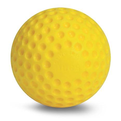 Yellow Dimpled Baseballs One Dozen Jugs Training Ball Pitching Machine 9 Inches Baseballs