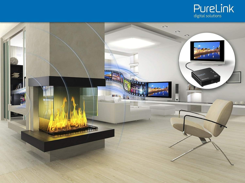 Reichweite max PureLink WHD030-V3 Wireless HD Extender Set f/ür HDMI mit Full-HD 1080p 3D Empf/änger und Sender kabellos schwarz 10m unkomprimiert