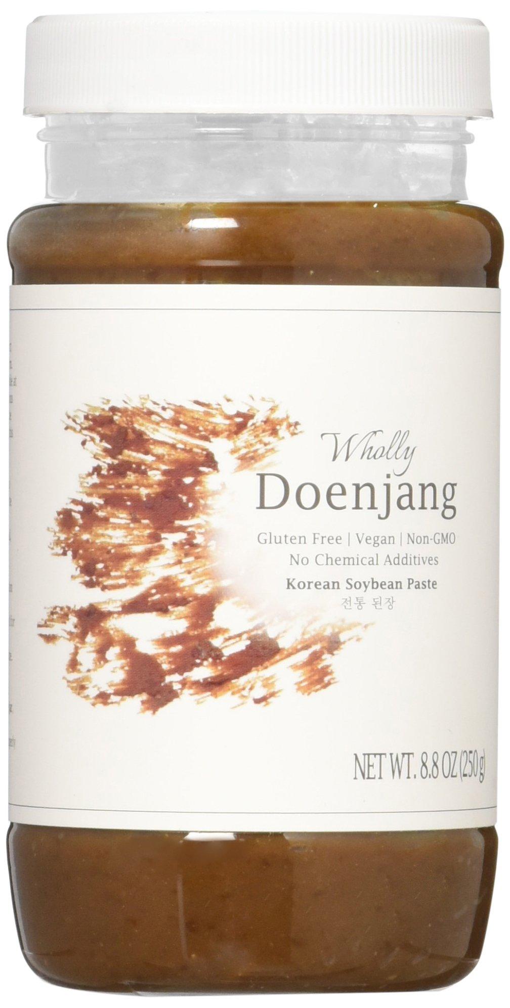 Wholly Doenjang, Premium Gluten-free Unpasteurized Artisanal 3 Year Aged Korean Soybean Paste (9 oz)