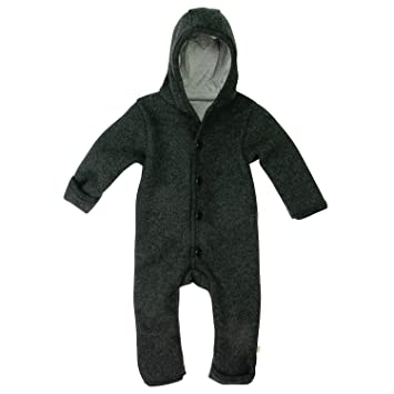 c570fc15a DISANA 100% Organic Boiled Wool Overall Romper Hooded Newborn/Baby Made in  Germany (