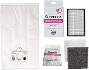 Ultra Care 6 + 1 + 1 Pk OEM Replacement for Kenmore Type C/Q HEPA Filtration Canister Vacuum Bags, 1 Kenmore CF1 81002 Chamber Filter, 1 Kenmore EF1 86889 HEPA Exhaust Filter. Progressive Intuition