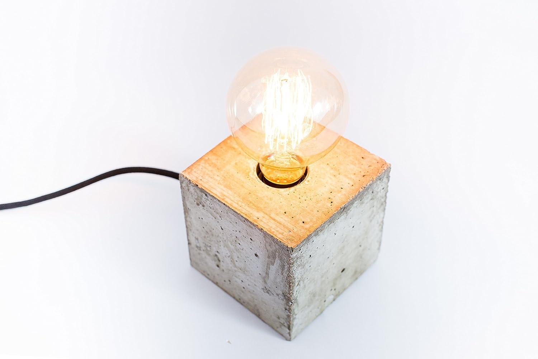 Lámpara de hormigón, lámpara de cemento, lámpara de diseño , lámpara handmade