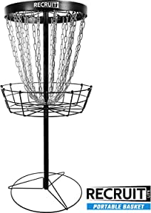 Dynamic Discs Recruit Lite Disc Golf Target | Frisbee Golf Basket | 24 Chain Portable Disc Golf Basket | Easy Assembly & Lightweight
