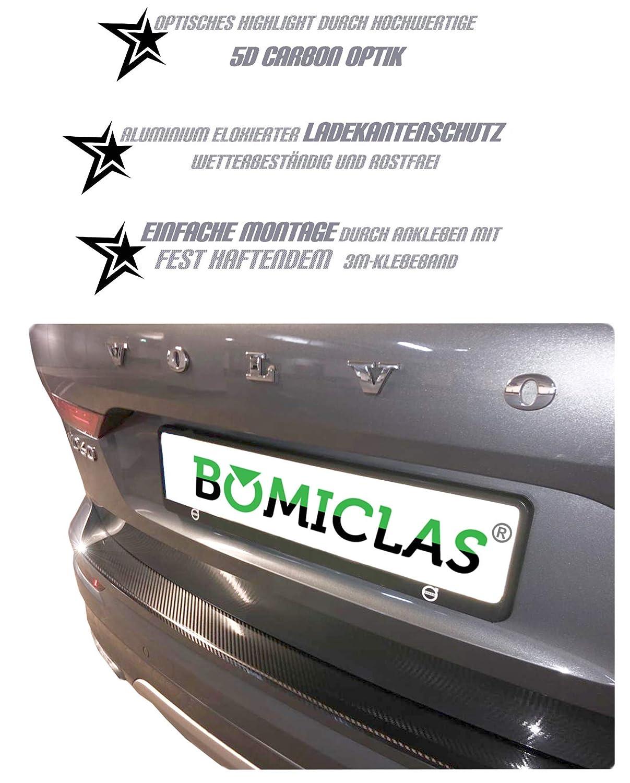 Sto/ßstangenschutz Aluminium BOMICLAS Ladekantenschutz 5D Carbon Hochglanz