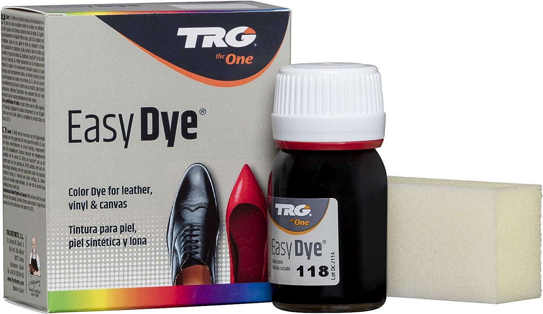 TRG The One - Tinte para Calzado y Complementos de Piel | Tintura para zapatos de Piel, Lona y Piel Sintética con Esponja con dos caras, para ...