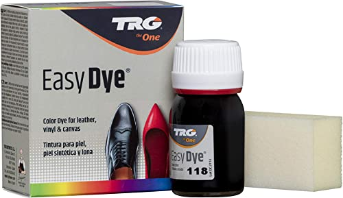 TRG The One - Tinte para Calzado y Complementos de Piel   Tintura para zapatos de Piel, Lona y Piel Sintética con Esponja aplicadora   Easy dye #118 ...
