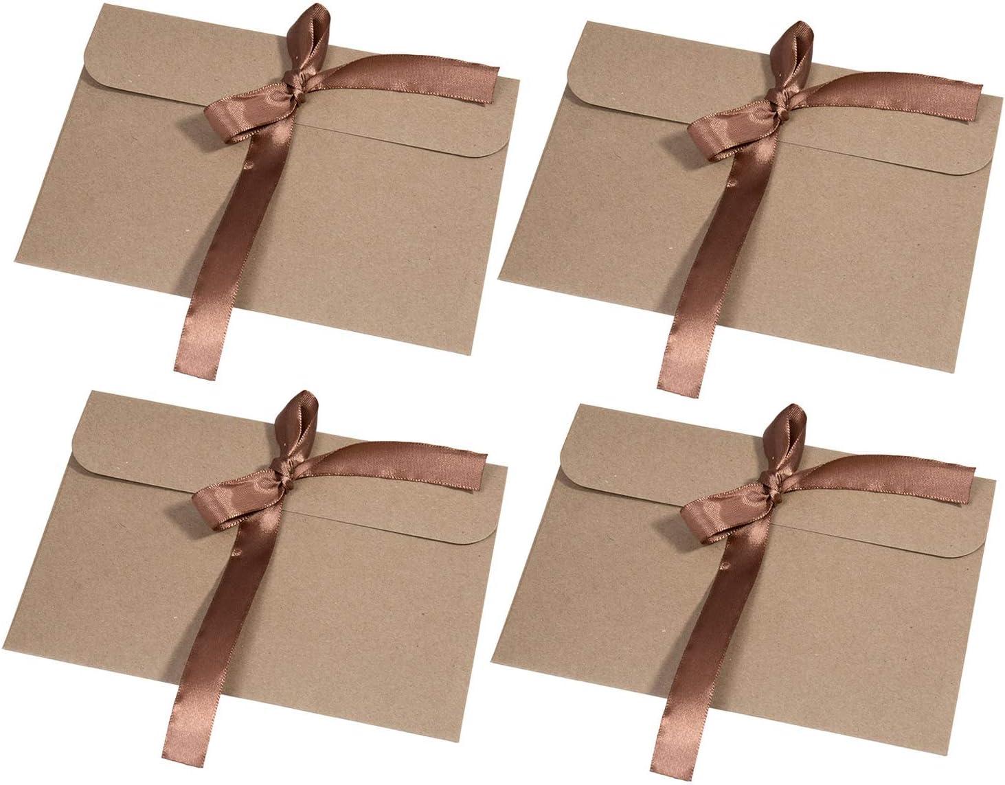 30 Piezas Vintage Kraft Cinta Sobres MOOKLIN Regalo Sobres de Tarjeta de Boda Fiesta Oficina (tamaño:17.2 x 12.5 cm) - Cinta marrón