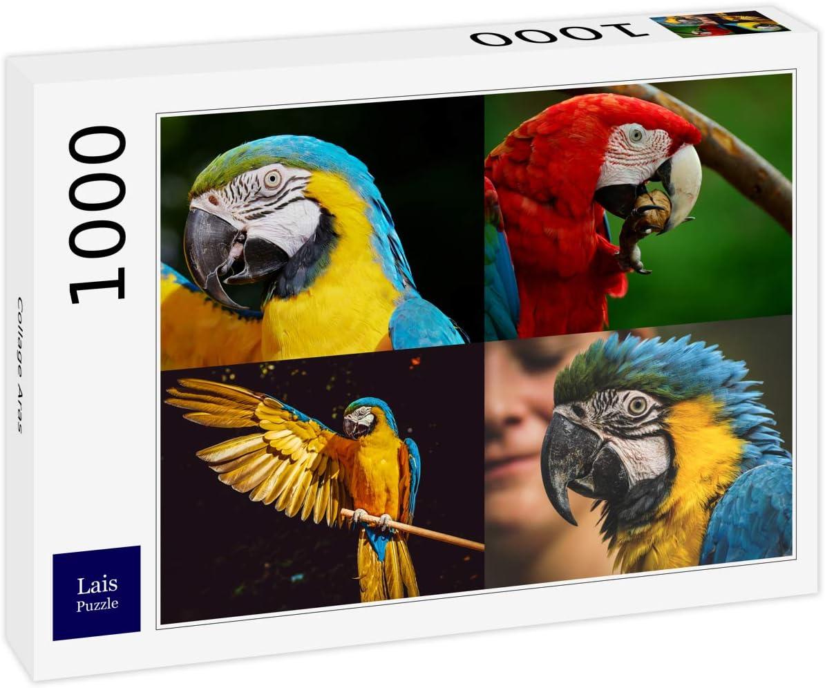 Lais Puzzle Guacamayos Collage 1000 Piezas