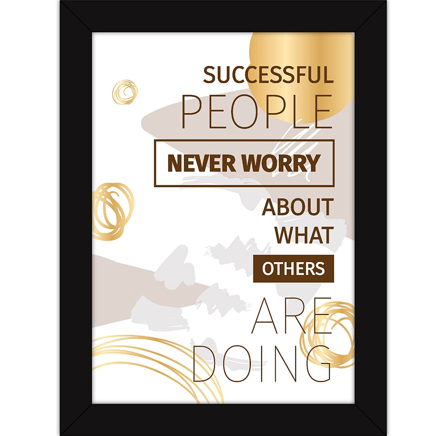 Office Quotes - Inspirational Posters With Frames For Room Decor And Wall Hanging - Successful