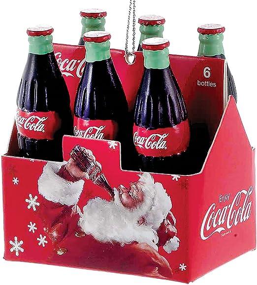 Kurt Adler Coca Cola Six Pack of Bottles Carton Christmas Tree ...