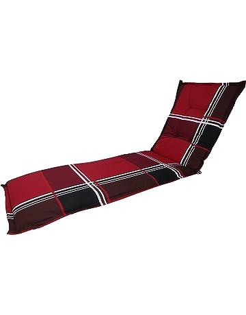 Auflagen für Liegen in rot Liegenauflagen Kissen Sitzkissen Liege Liegenauflage
