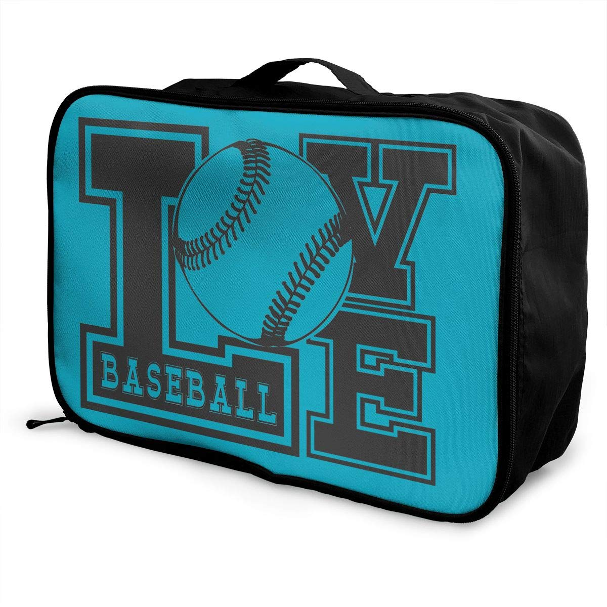 Travel Luggage Duffle Bag Lightweight Portable Handbag Love Baseball Large Capacity Waterproof Foldable Storage Tote
