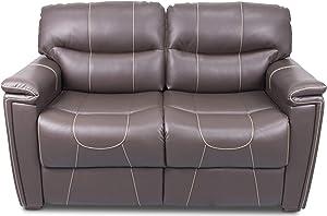 "Thomas Payne 377708 Majestic Chocolate 68"" Tri-Fold RV Sleeper Sofa with Tan Topstitch and 53"" x 72"" x 19"" Sleeping Surface"