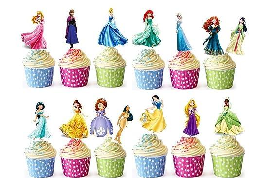28 de princesas de Disney comestible taza tartas oblea ...